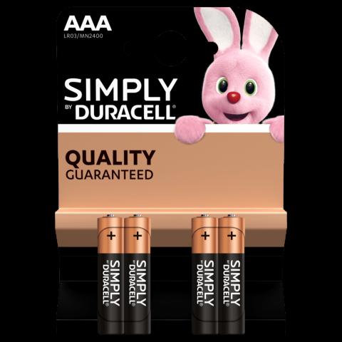 Pila alkalina LR03 AAA Duracell BASIC BLISTER 4u