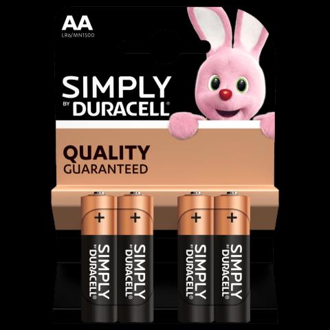 Pila alkalina LR6 AA Duracell BASIC BLISTER 4u