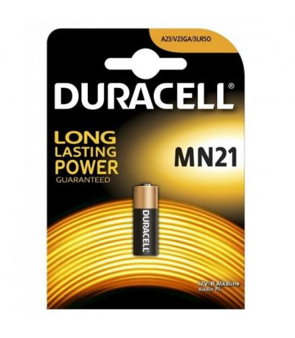 Pila mando 12v Alkalina (MN21) Duracell 23A