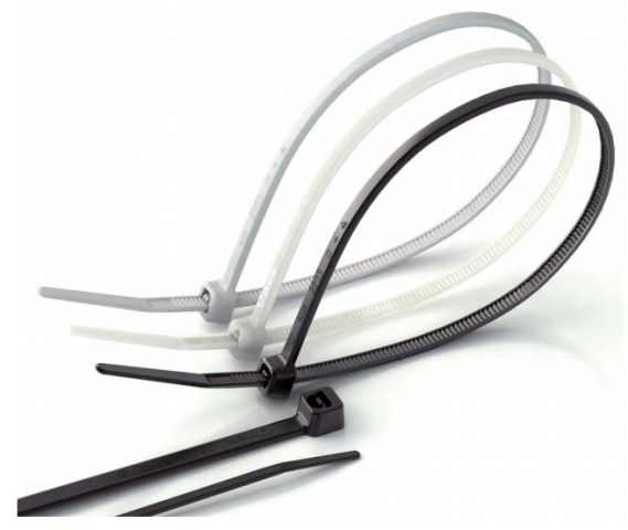 Brida nylon 2.5x100 blanca (B.100u)