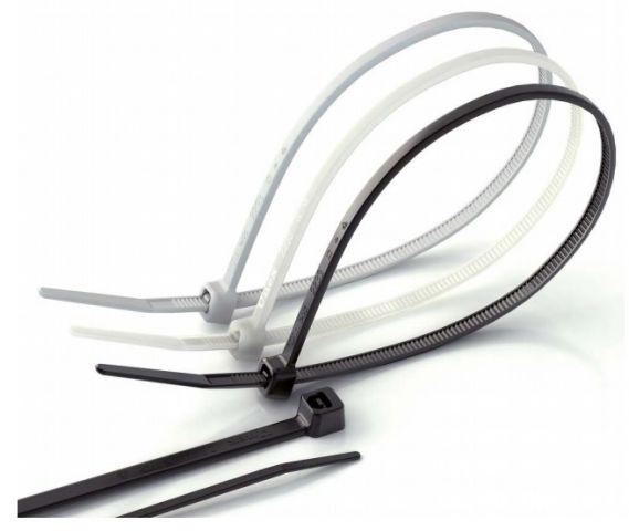 Brida B-3 nylon 3.6x140 blanca (B.100u)
