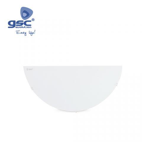 Aplic pared semicircular blanc 1xE-27