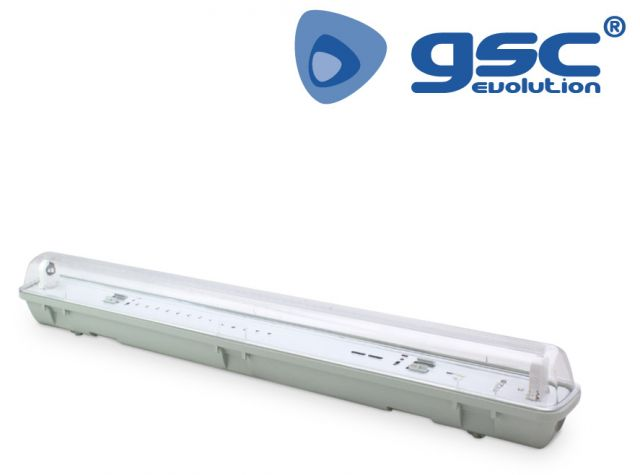 Pantalla estanca 60cm (1x18) per tub LED