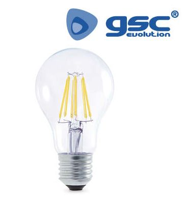 Bombeta Estandard LED FILAMENT transparent 4w 3000