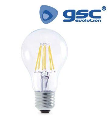 Bombeta Estandard LED FILAMENT transparent 8w 3000