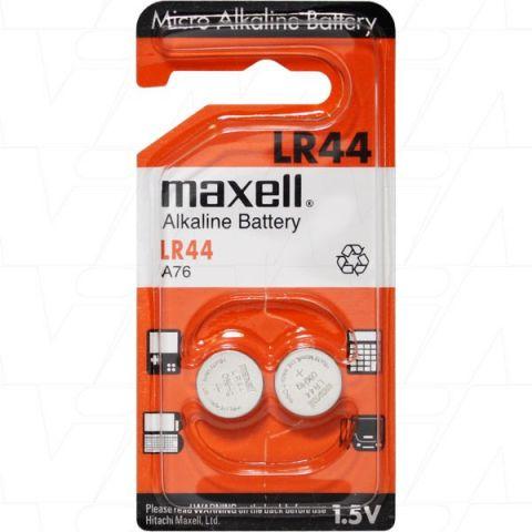 Pila botó alkalina 1,5V LR44 (A76 / V13GA) Maxell
